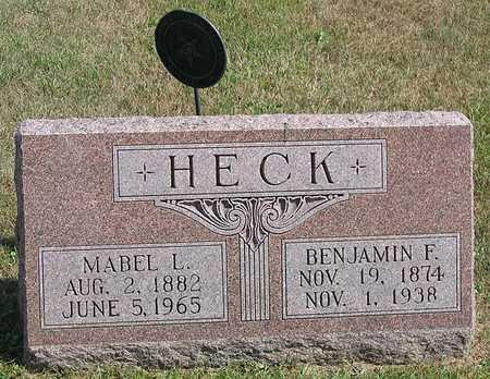 HECK, MABEL LEONA - Benton County, Iowa | MABEL LEONA HECK