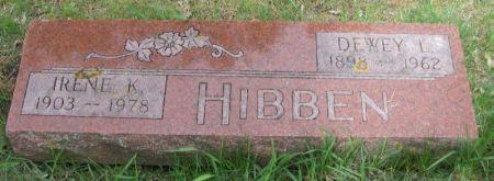 HIBBEN, IRENE K. - Benton County, Iowa | IRENE K. HIBBEN