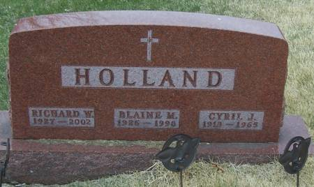 HOLLAND, RICHARD W - Benton County, Iowa | RICHARD W HOLLAND