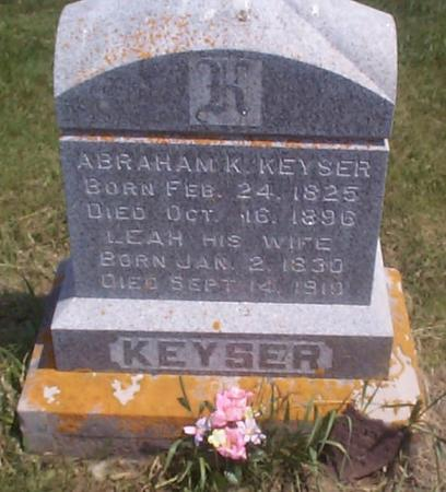 KEYSER, ABRAHAM K. - Benton County, Iowa   ABRAHAM K. KEYSER