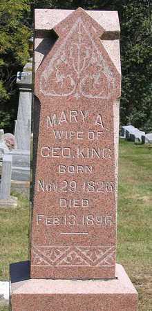 KING, MARY A. - Benton County, Iowa | MARY A. KING