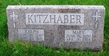 KITZHABER, JOSEPH - Benton County, Iowa   JOSEPH KITZHABER