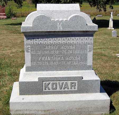 KOVAR, JOSEF - Benton County, Iowa   JOSEF KOVAR