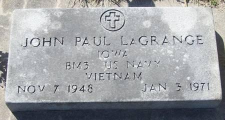 LAGRANGE, JOHN PAUL - Benton County, Iowa | JOHN PAUL LAGRANGE