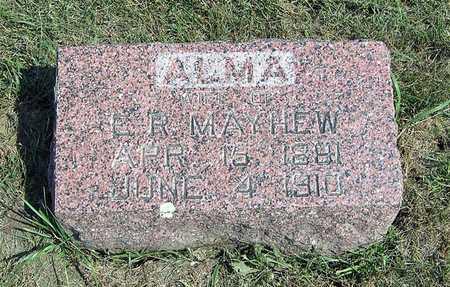 MAYHEW, ALMA - Benton County, Iowa | ALMA MAYHEW