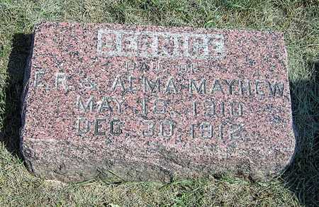MAYHEW, BERNICE - Benton County, Iowa | BERNICE MAYHEW