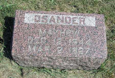 MAYHEW, OSANDER - Benton County, Iowa | OSANDER MAYHEW