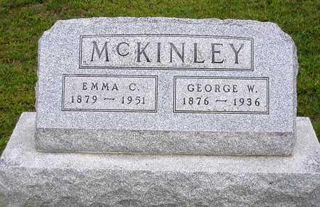 MCKINLEY, GEORGE W. - Benton County, Iowa   GEORGE W. MCKINLEY