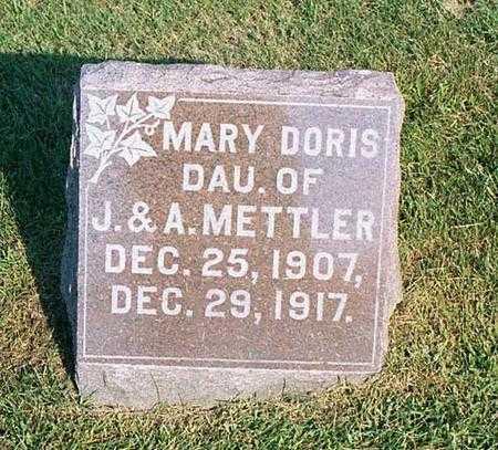 METTLER, MARY DORIS - Benton County, Iowa   MARY DORIS METTLER