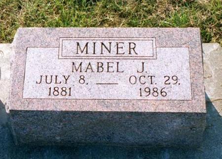 ZERFOSS MINER, MABEL JESSIE - Benton County, Iowa | MABEL JESSIE ZERFOSS MINER