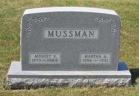 MUSSMAN, AUGUST F. - Benton County, Iowa | AUGUST F. MUSSMAN