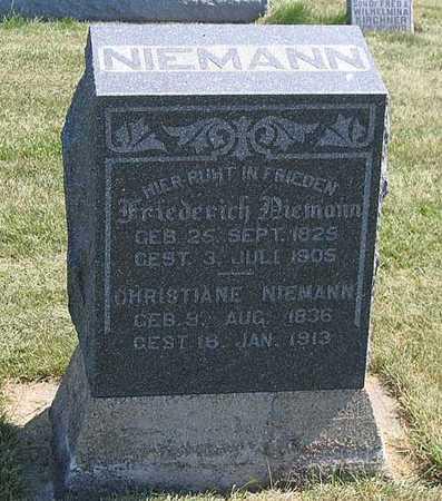 NIEMANN, FREDERICK - Benton County, Iowa   FREDERICK NIEMANN