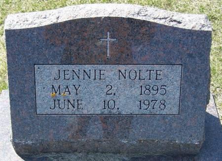 NOLTE, JENNIE - Benton County, Iowa | JENNIE NOLTE