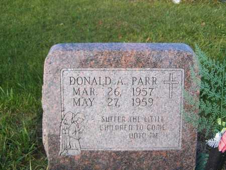 PARR, DONALD ARTHUR - Benton County, Iowa   DONALD ARTHUR PARR