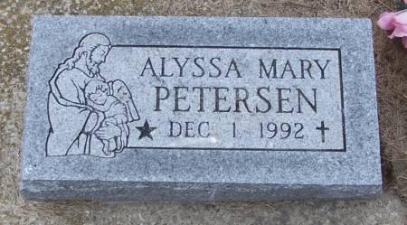 PETERSEN, ALYSSA MARY - Benton County, Iowa | ALYSSA MARY PETERSEN
