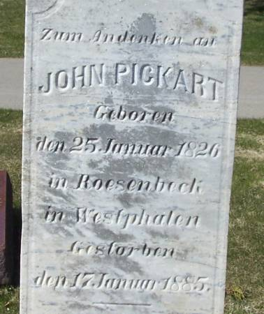 PICKART, JOHN - Benton County, Iowa | JOHN PICKART