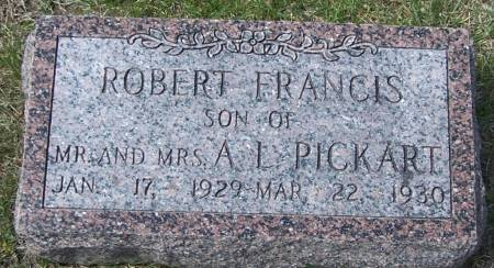 PICKART, ROBERT FRANCIS - Benton County, Iowa | ROBERT FRANCIS PICKART