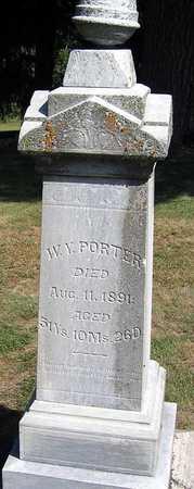 PORTER, WILLIAM Y. - Benton County, Iowa | WILLIAM Y. PORTER
