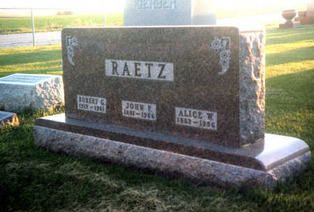 RAETZ, ROBERT G. - Benton County, Iowa | ROBERT G. RAETZ