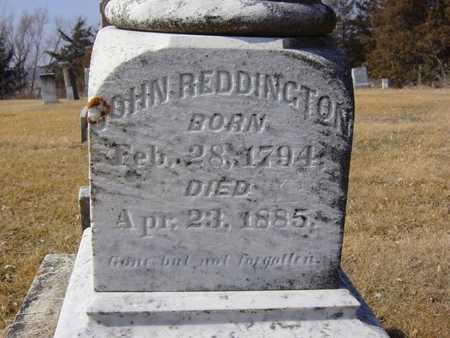 REDDINGTON, JOHN - Benton County, Iowa   JOHN REDDINGTON
