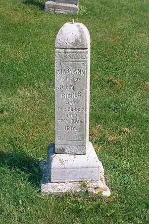 RICKERT, MARY ANN - Benton County, Iowa   MARY ANN RICKERT