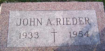 RIEDER, JOHN A. - Benton County, Iowa | JOHN A. RIEDER