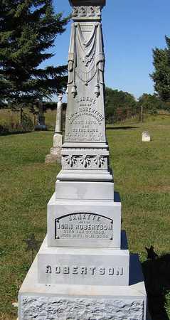 ROBERTSON, JANET - Benton County, Iowa   JANET ROBERTSON