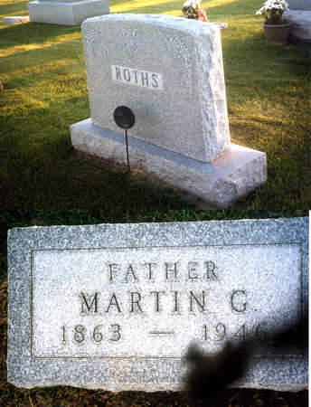 ROTHS, MARTIN G. - Benton County, Iowa | MARTIN G. ROTHS
