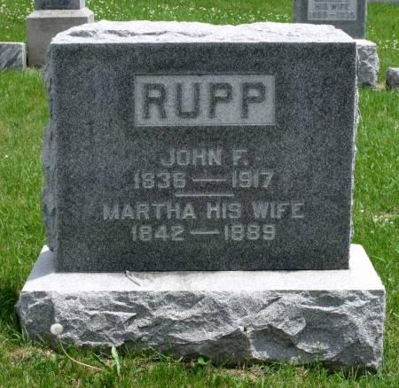 RUPP, MARTHA A - Benton County, Iowa   MARTHA A RUPP