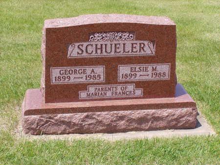 HANNEMAN SCHUELER, ELSIE - Benton County, Iowa | ELSIE HANNEMAN SCHUELER