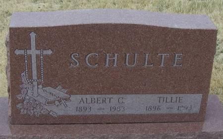SCHULTE, ALBERT C - Benton County, Iowa   ALBERT C SCHULTE