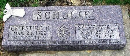 SCHULTE, CELESTINE C - Benton County, Iowa | CELESTINE C SCHULTE