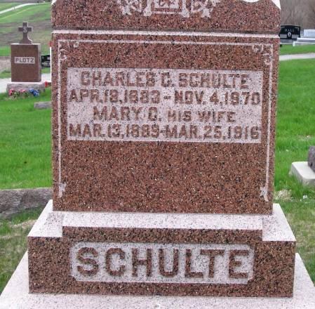 SCHULTE, CHARLES C - Benton County, Iowa | CHARLES C SCHULTE
