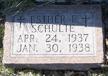 SCHULTE, ESTHER F - Benton County, Iowa | ESTHER F SCHULTE