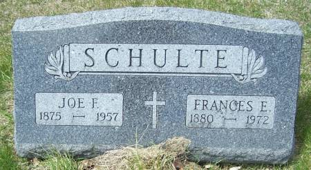 SCHULTE, JOE F - Benton County, Iowa | JOE F SCHULTE