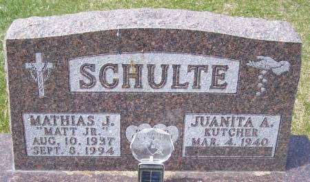 SCHULTE, MATHIAS J - Benton County, Iowa | MATHIAS J SCHULTE