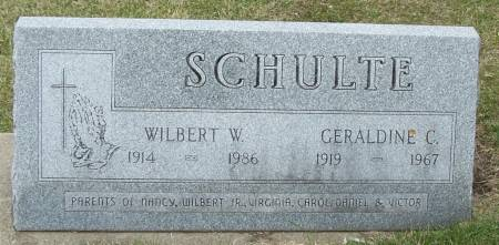 SCHULTE, WILBERT W - Benton County, Iowa | WILBERT W SCHULTE