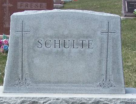 SCHULTE, WILLIAM FAMILY STONE - Benton County, Iowa | WILLIAM FAMILY STONE SCHULTE