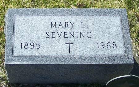 SEVENING, MARY L - Benton County, Iowa | MARY L SEVENING