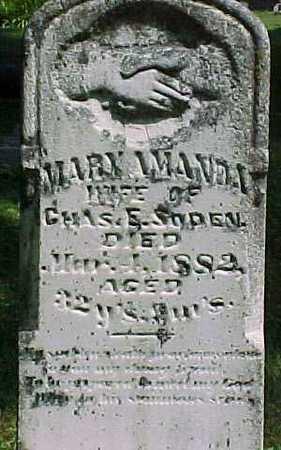 SODEN, MARY AMANDA - Benton County, Iowa | MARY AMANDA SODEN