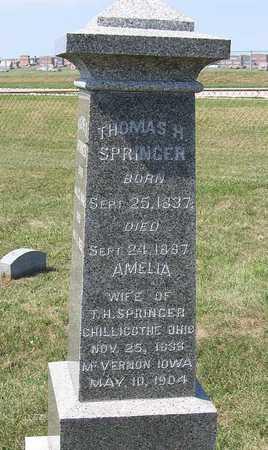 SPRINGER, THOMAS H. - Benton County, Iowa | THOMAS H. SPRINGER