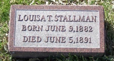 STALLMAN, LOUISA T - Benton County, Iowa | LOUISA T STALLMAN