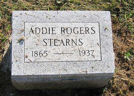 STEARNS, ADDIE ROGERS - Benton County, Iowa | ADDIE ROGERS STEARNS