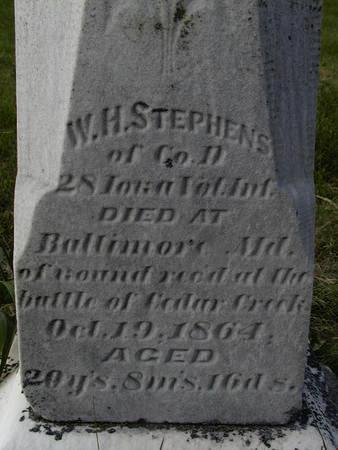 STEPHENS, W.H. - Benton County, Iowa   W.H. STEPHENS