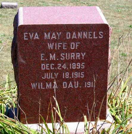 DANNELS SURRY, EVA MAY - Benton County, Iowa | EVA MAY DANNELS SURRY