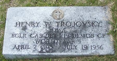TROJOVSKY, HENRY W - Benton County, Iowa   HENRY W TROJOVSKY