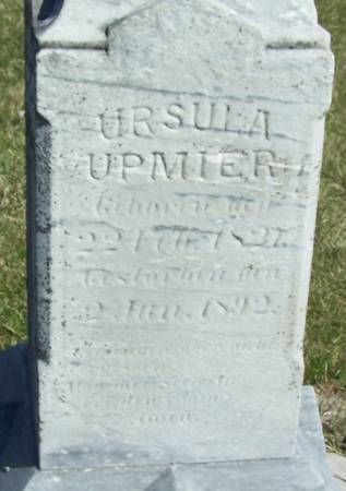 UPMIER, URSULA - Benton County, Iowa | URSULA UPMIER