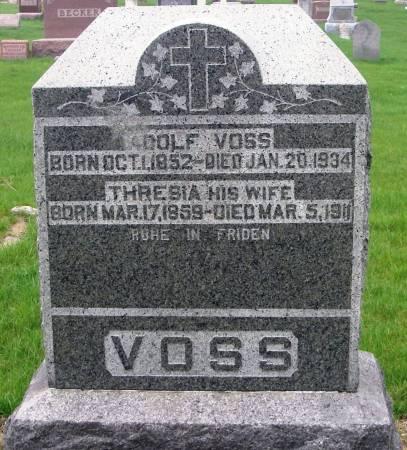 VOSS, ADOLF - Benton County, Iowa | ADOLF VOSS