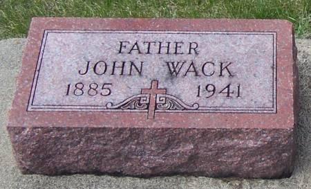 WACK, JOHN - Benton County, Iowa   JOHN WACK