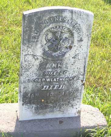 WEATHERWAX, ANN - Benton County, Iowa | ANN WEATHERWAX